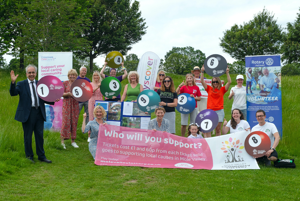 Mole Valley supports local charities in new Community Lottery